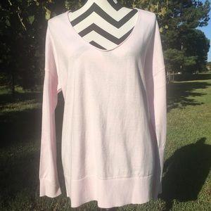 GAP Solid Pink Lightweight Sweater